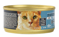 PetGuard, Canned Cat Food,  Fish Chicken and Liver Dinner - 5.5 oz -5 PACK