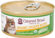 3 Pack of Catered Bowl Always Organic Premium Cat Food Chicken Recipe - 5.5 oz