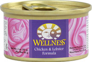 Wellness, Canned Cat Food,  Chicken and Lobster - 3 oz -5 PACK
