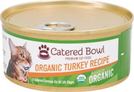 3 Pack of Catered Bowl Always Organic Premium Cat Food Turkey Recipe - 5.5 oz