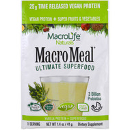 Macrolife Naturals, Macromeal Ultimate Superfood, Vanilla Protein + Superfoods, 1.4 oz (41 g)