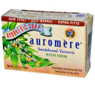 3 PACK of Auromere, Ayurvedic Soap, With Organic Neem, Sandal-Turmeric, 2.75 oz (78 g)