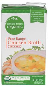 3 PACK of Simple Truth Organic Free Range Chicken Broth -- 32 fl oz