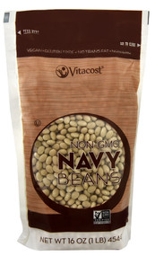 3 PACK of Vitaco Navy Beans - Non-GMO and Gluten Free -- 16 oz (454 g)