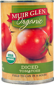 3 PACK of Muir Glen Organic Diced Tomatoes Unflavored -- 14.5 fl oz