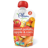 3 PACK of Plum Organics, Organic Baby Food, Stage 2, Sweet Potato Apple & Corn, 4 oz (113 g)