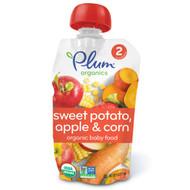 3 PACK of Plum Organics, Organic Baby Food, Stage 2, Sweet Potato, Apple & Corn, 4 oz (113 g)