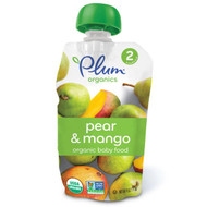 3 PACK of Plum Organics, Organic Baby Food, Stage 2, Pear & Mango, 4 oz (113 g)