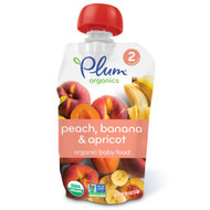 3 PACK of Plum Organics, Organic Baby Food, Stage 2, Peach, Banana & Apricot, 4 oz (113 g)