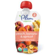 3 PACK of Plum Organics, Organic Baby Food, Stage 2, Peach, Banana & Apricot, 4 oz (113 g)