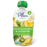 3 PACK of Plum Organics, Organic Baby Food, Stage 2, Banana, Zucchini & Amaranth, 3.5 oz (99 g)