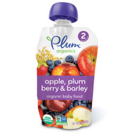 3 PACK of Plum Organics, Organic Baby Food, Stage 2, Apple, Plum Berry & Barley, 3.5 oz (99 g)
