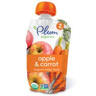 3 PACK of Plum Organics, Organic Baby Food, Stage 2, Apple & Carrot, 4 oz (113 g)