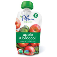 3 PACK of Plum Organics, Organic Baby Food, Stage 2, Apple & Broccoli, 4 oz (113 g)