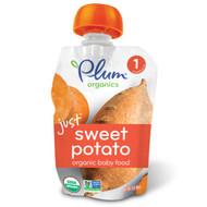 3 PACK of Plum Organics, Organic Baby Food, Stage 1, Just Sweet Potato, 3 oz (85 g)
