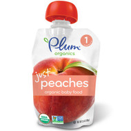 3 PACK of Plum Organics, Organic Baby Food, Stage 1, Just Peaches, 3.5 oz (99 g)