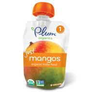 3 PACK of Plum Organics, Organic Baby Food, Stage 1, Just Mangos, 3.5 oz (99 g)