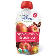 3 PACK of Plum Organics, Organic Baby Food, Stage 2, Apple Raisin & Quinoa, 3.5 oz (99 g)
