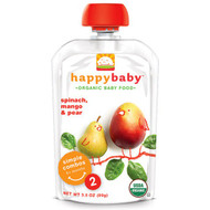 3 PACK of Happy Baby Simple Combos Stage 2 Organic Baby Food Spinach Mangos and Pear -- 3.5 oz