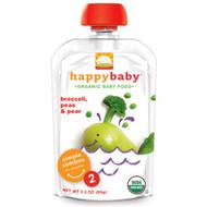 3 PACK OF Happy Family Organics, Organics Happy Baby,  Stage 2,  6+ Months, Organic Pears, Peas & Broccoli, 4 oz (113 g)