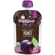 3 PACK OF Happy Family Organics, Organic Baby Food, Stage 1, Clearly Crafted, Prunes, , 4 + Months, 3.5 oz (99 g)