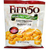 3 PACK of Fifty 50, Butterscotch Hard Candy, Low Glycemic, Sugar Free, 2.75 oz (78 g)