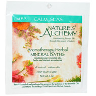 3 PACK of Natures Alchemy, Aromatheraphy Herbal Mineral Baths, Calm Seas, Trial Size, 1 oz