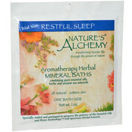 3 PACK of Natures Alchemy, Aromatherapy Herbal Mineral Baths, Restful Sleep, Trial Size, 1 oz