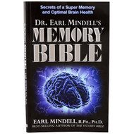 3 PACK of Now Foods, Memory Bible, By Dr. Earl Mindell, Paper Back, 88 Pages