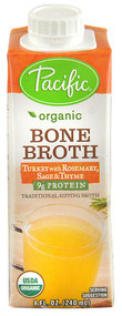 Pacific Natural Foods, Organic Bone Broth,  Turkey with Rosemary Sage & Thyme - 8 fl oz -5 PACK