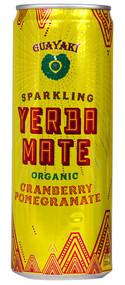 Guayaki, Sparkling Organic Yerba Mate,  Cranberry Pomegranate - 12 fl oz -5 PACK