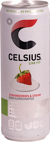 3 Pack of Celsius Live Fit Non-Carbonated Strawberries & Cream - 12 fl oz