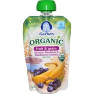 3 PACK of Gerber, Smart Flow  Sitter 2nd Foods, Organic, Banana, Blueberry & Blackberry Oatmeal, 3.5 oz (99 g)