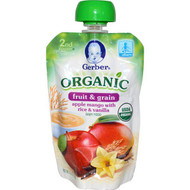 3 PACK of Gerber Organic 2nd Foods Baby Food Apples Mango with Rice & Vanilla -- 3.5 oz