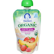 3 PACK of Gerber, 2nd Foods, Organic, Baby Food, Fruit & Grain, Banana Red Berries Granola, 3.5 oz (99 g)