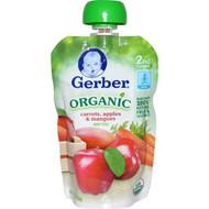 3 PACK of Gerber, 2nd Foods, Organic Baby Food, Carrots, Apples & Mangoes, 3.5 oz (99 g)