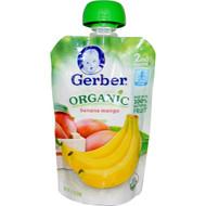 3 PACK of Gerber, 2nd Foods, Organic Baby Food, Banana Mango, 3.5 oz (99 g)