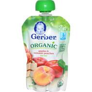 3 PACK of Gerber, Smart Flow  Sitter 2nd Foods, Organic Baby Food, Apples & Summer Peaches, 3.5 oz (99 g)