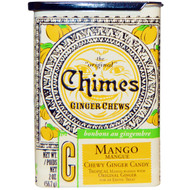 3 PACK of Chimes, Ginger Chews, Mango, 2 oz (56.7 g)