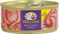 3 PACK of Wellness Canned Cat Food Grain Free Beef and Chicken -- 5.5 oz