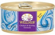 Wellness, Canned Cat Food,  Chicken and Herring - 5.5 oz -5 PACK