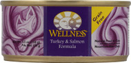3 PACK of Wellness Pate Smooth Loaf Canned Cat Food Turkey and Salmon Entree -- 5.5 oz