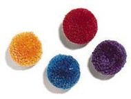 Ethical Pet Products, Wool Pom-Pom With Catnip Cat Toy - Assorted Colors - 4 Pack -5 PACK