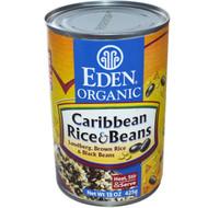 Eden Foods, Organic, Caribbean Rice & Beans, 15 oz (425 g) (5 PACK)