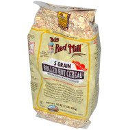Bob's Red Mill, Rolled Hot Cereal, 5 Grain, 16 oz (453 g) (5 PACK)