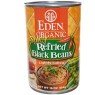 Eden Foods, Organic, Spicy Refried Black Beans, 16 oz (454 g) (5 PACK)