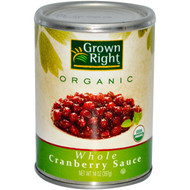 Grown Right, Organic Whole Cranberry Sauce, 14 oz (397 g) (5 PACK)