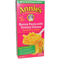 3 PACK of Annies Homegrown, Bunny Pasta, Bunny Shaped Pasta & Yummy Cheddar, 6 oz (170 g)