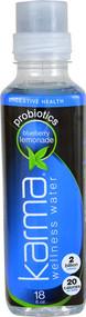 Karma Wellness Water Probiotics for Digestive Health Blueberry Lemonade - 18 fl oz