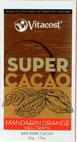 Vitaco, Super Cacao Mandarin Orange with WellTrimiG - 66% Dark Cacao - 1.75 oz -5 PACK